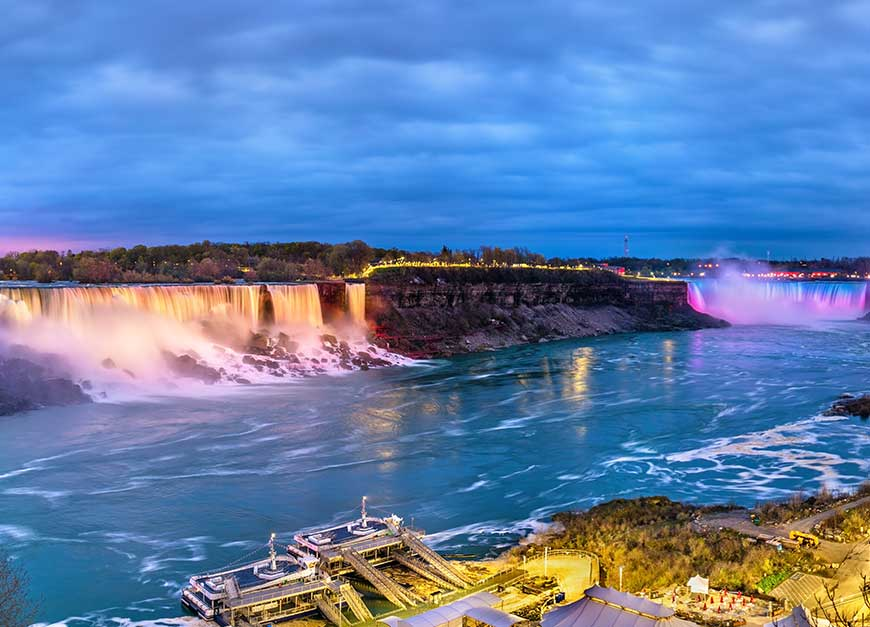 Niagara Lights, New York to Niagara Falls